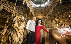 themed engagement denver carousel
