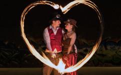denver fire engagement steampunk photographer