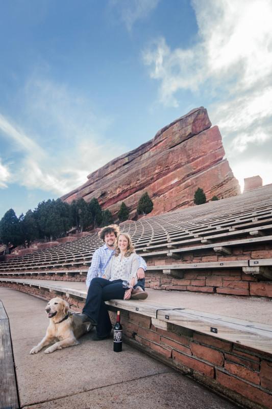 Colorado red rocks engagement photos