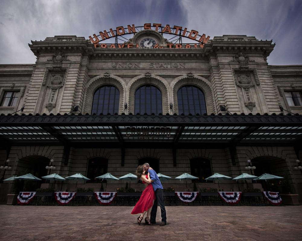 union station downtown denver engagement