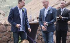 gay wedding red rocks colorado