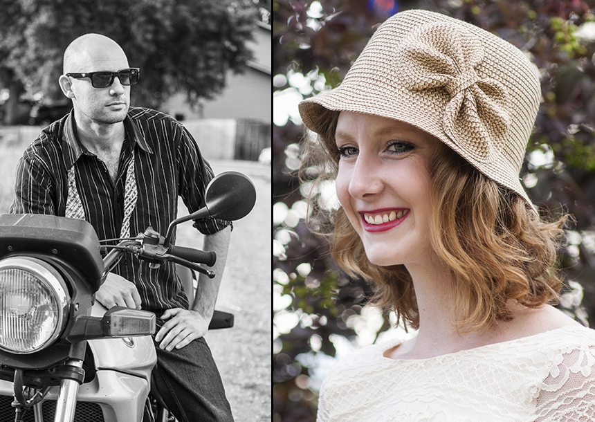 vintage inspired whiskey picnic themed engagement photo shoot