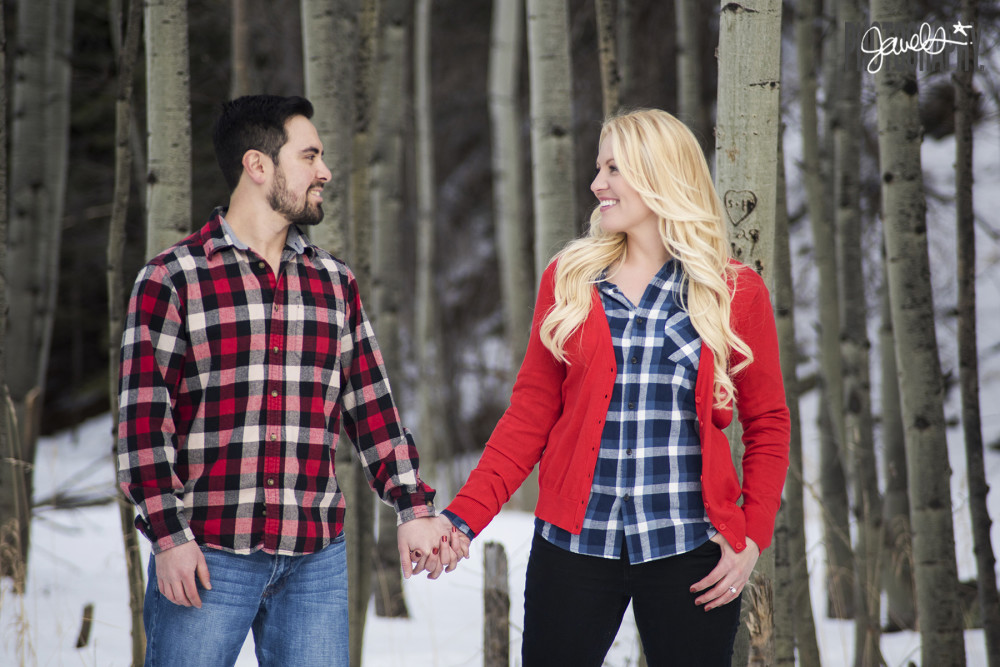 colorado rustic engagement