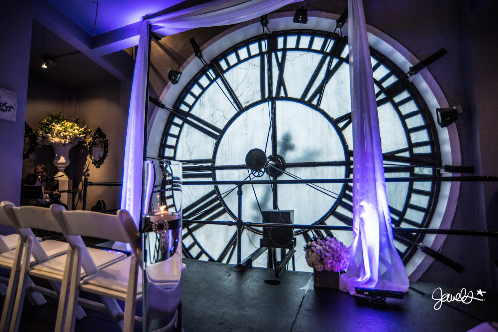 D&F clock tower wedding