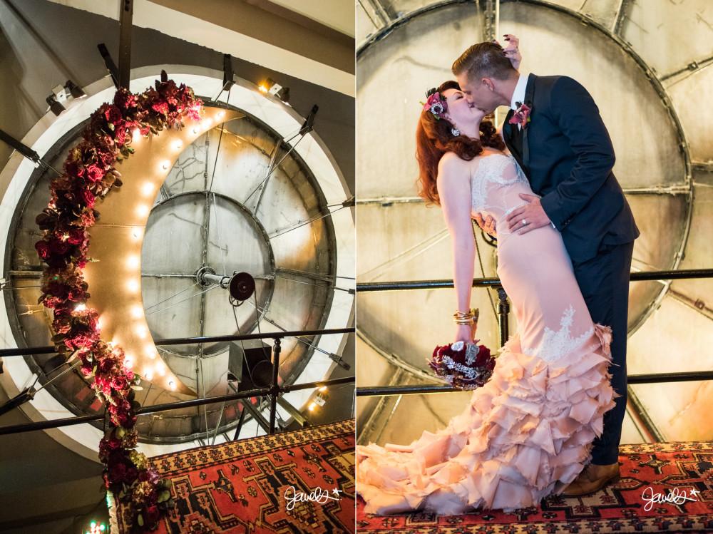 clock tower wedding 1