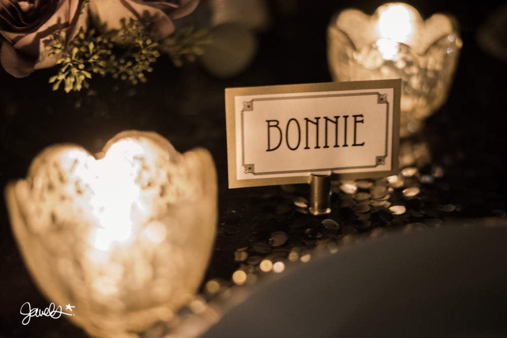 bonnie & clyde wedding detail 1