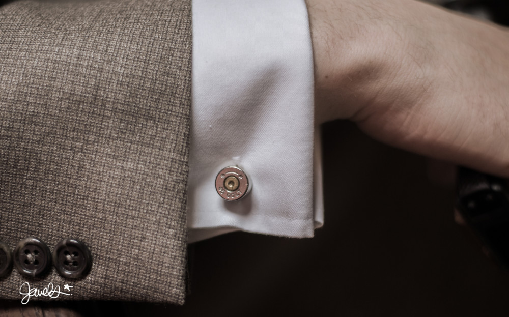 bonnie & clyde wedding bullet cufflinks