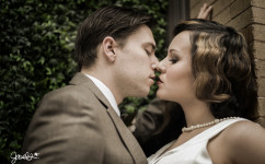 bonnie & clyde wedding portrait