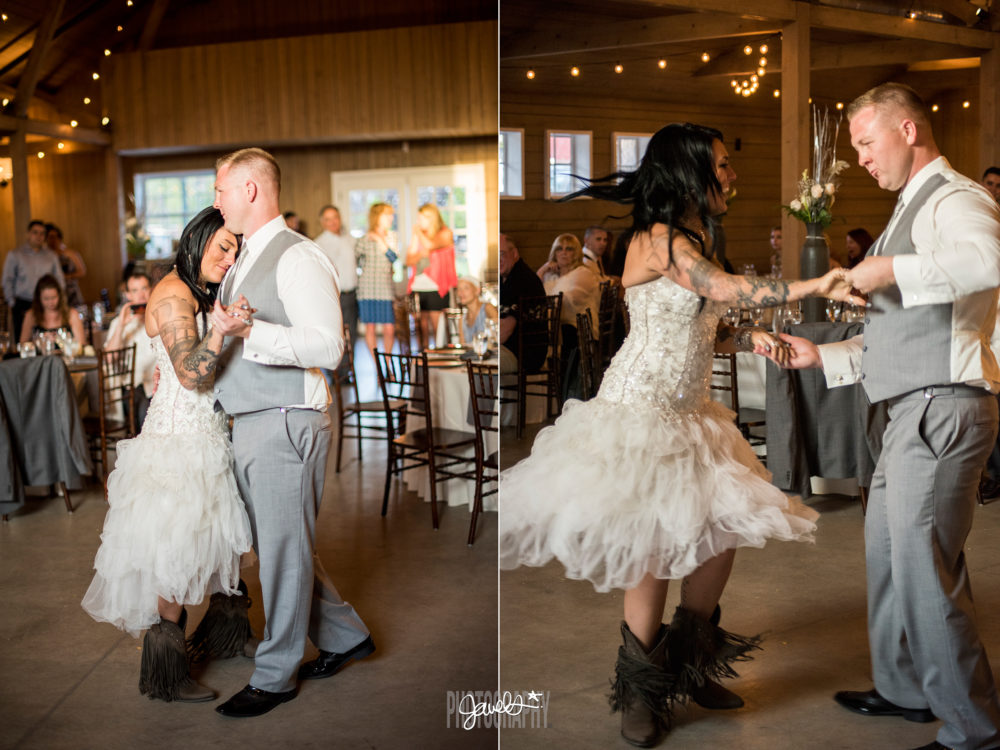 first dance wedding barn at raccoon creek