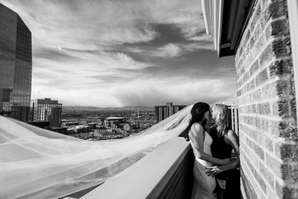 lgbtq wedding denver black and white