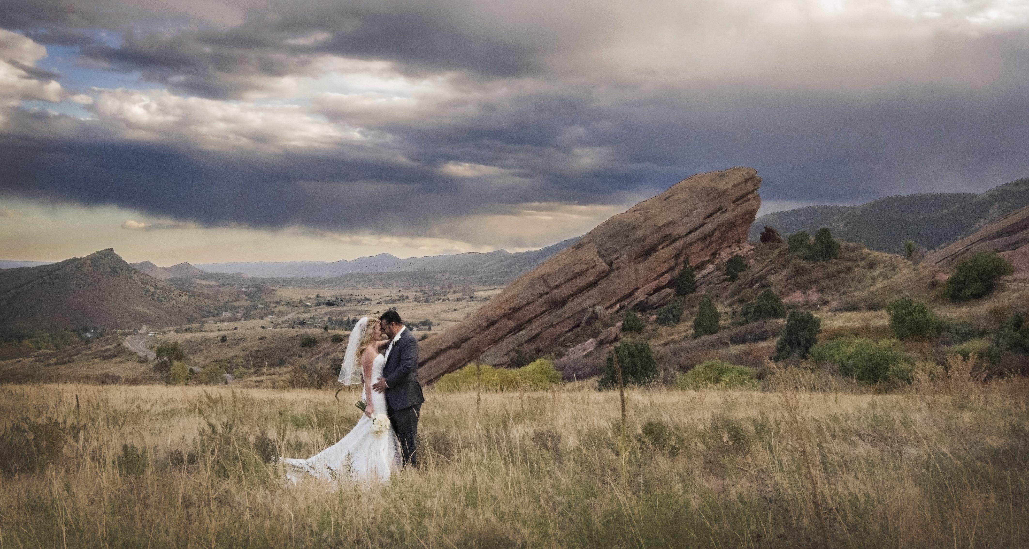red rocks wedding photography colorado