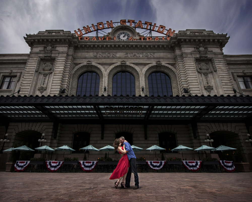 union station downtown denver engagement