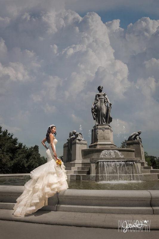 urban denver wedding fashion bride