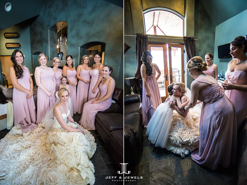 Bride & bridesmaids Estes Park