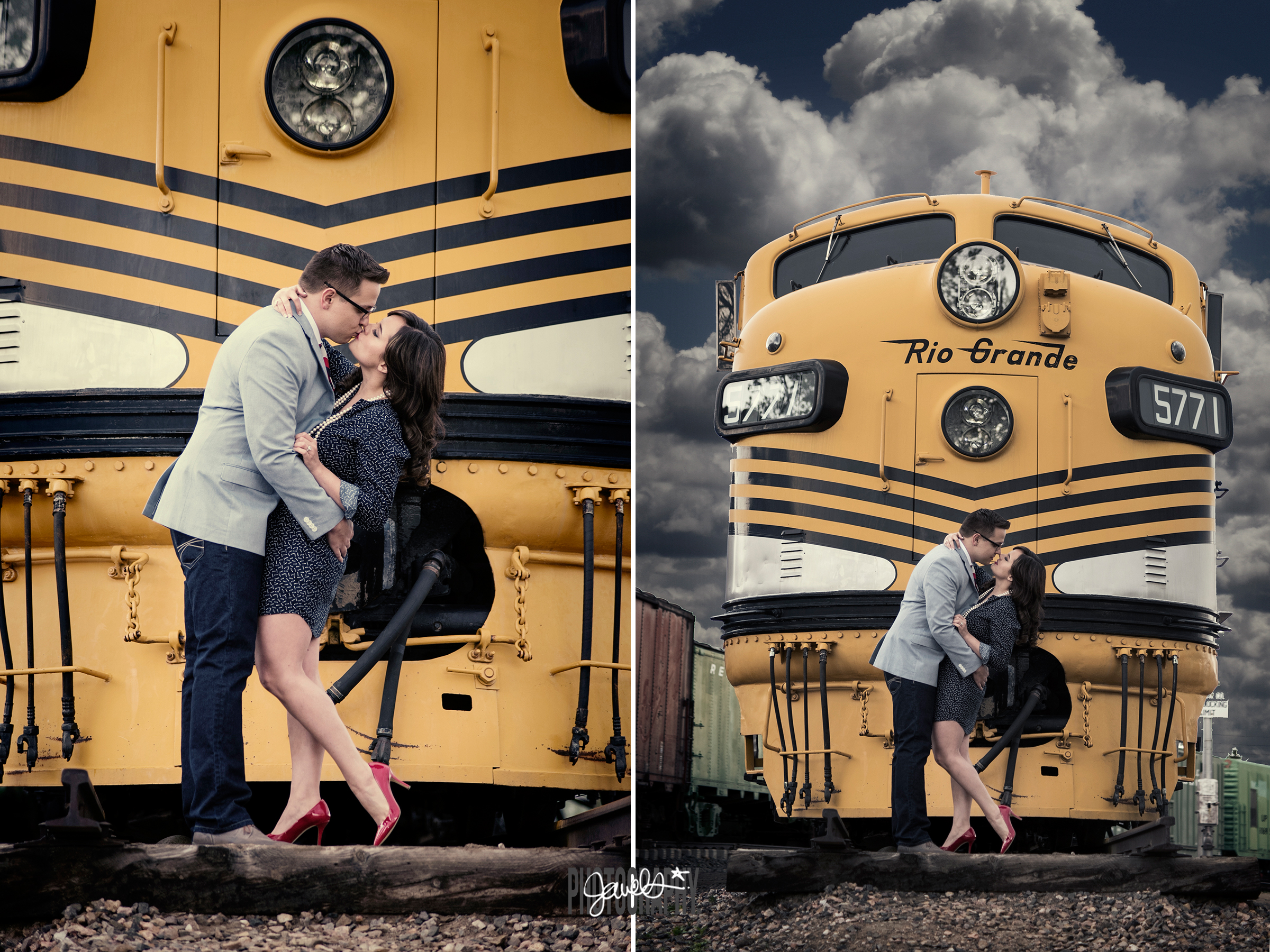 edgy colorado engagement photography