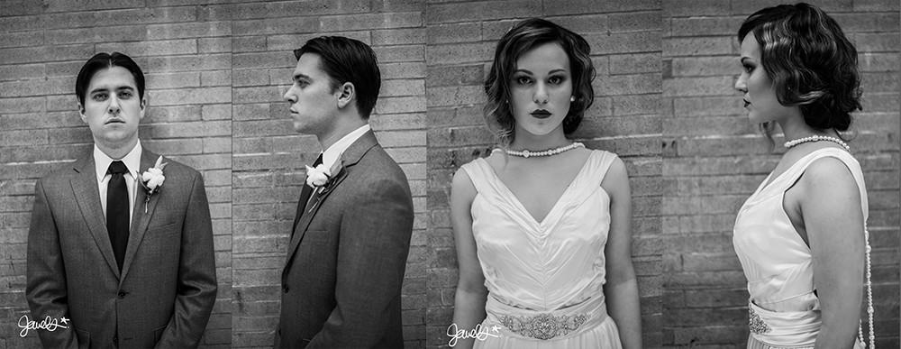 bonnie & clyde wedding mugshot