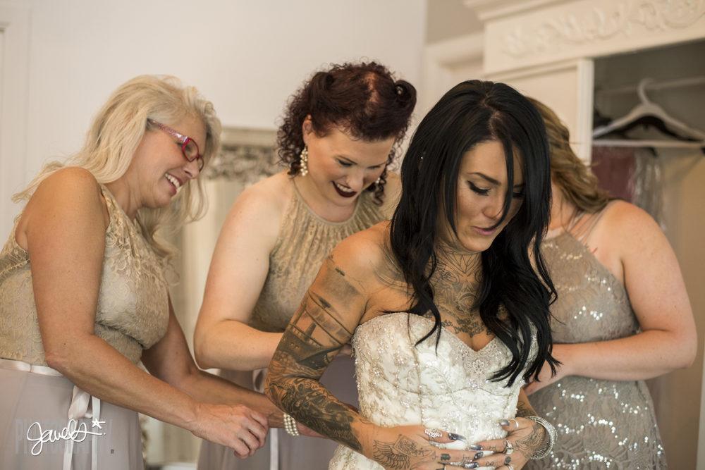 denver tatooed bride