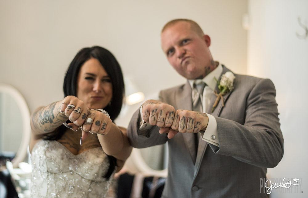 denver tatooed bride wedding