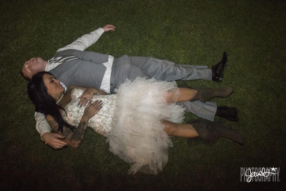 denver wedding bride groom exit barn at raccoon creek