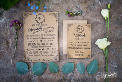 rustic colorado wedding invitations prive events planner
