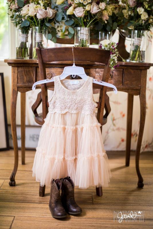 colorado wedding flower girl dress