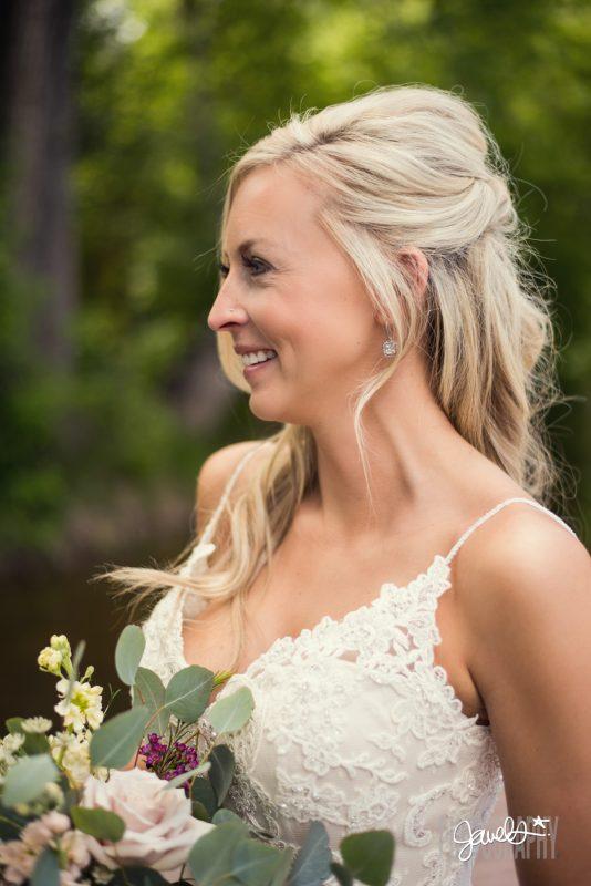 rocky mountain bride portrait