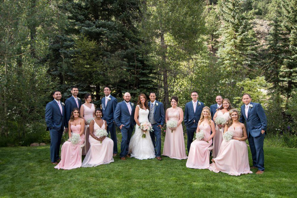 colorado wedding bridal party