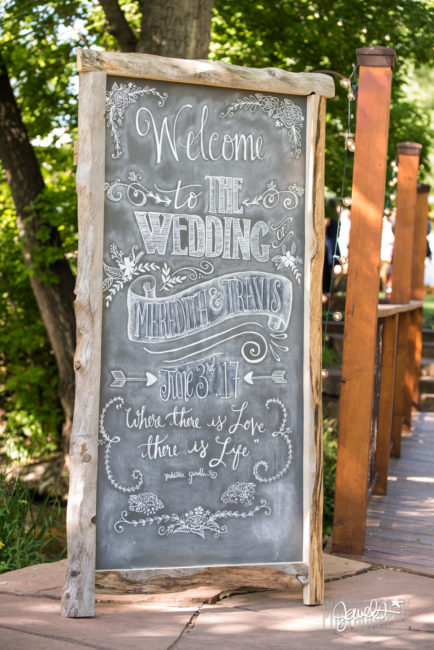 chalk and nail wedding decor chalkboard sign