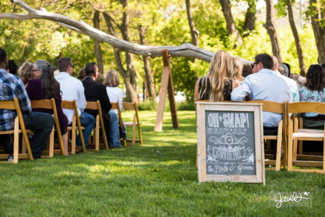 rocky mountain unplugged wedding chalk & nail signage