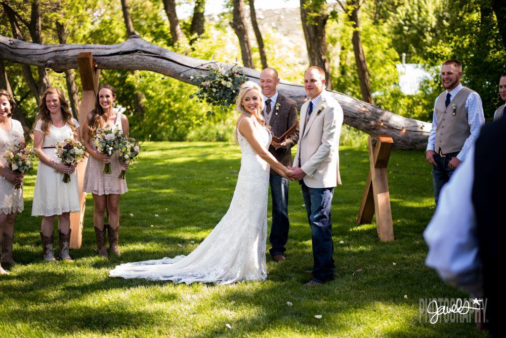 rocky mountain farm wedding ceremony site