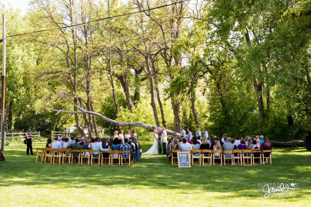 rocky mountain farm wedding ceremony location