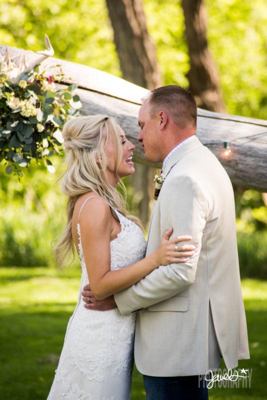rocky mountain farm wedding ceremony