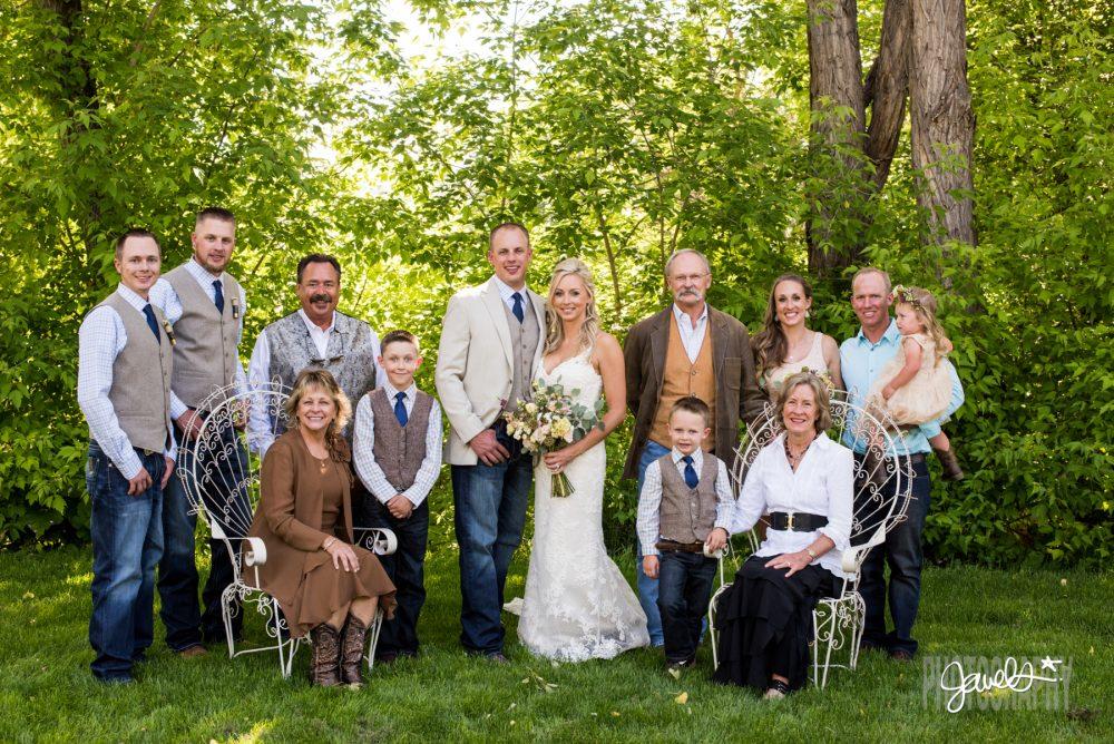 rocky mountain farm wedding portraits