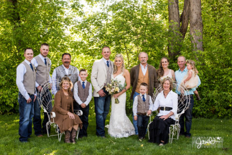 rocky mountain farm wedding portraits