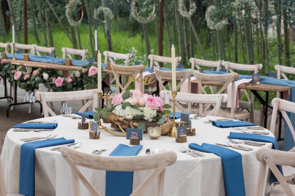 colorado wedding reception decor