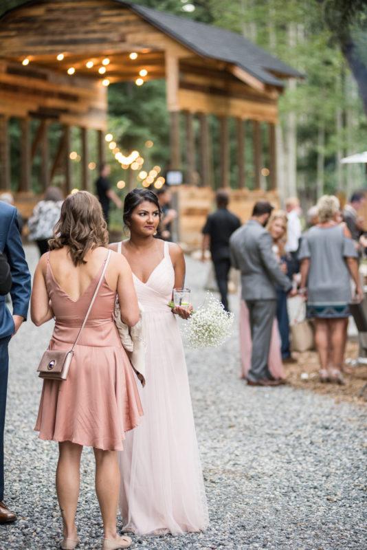 outdoor colorado mountain wedding