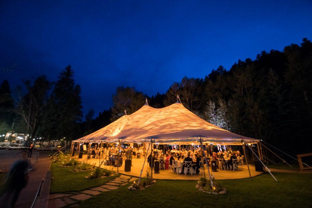 colorado wedding reception tent party