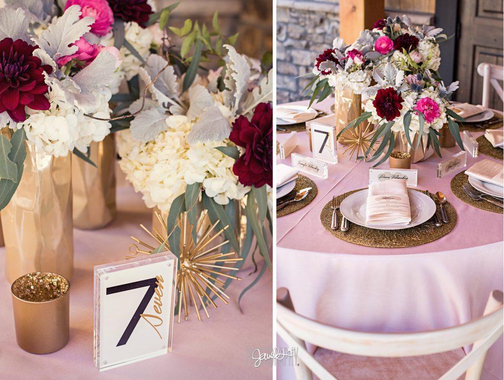 mountain rustic modern wedding decor