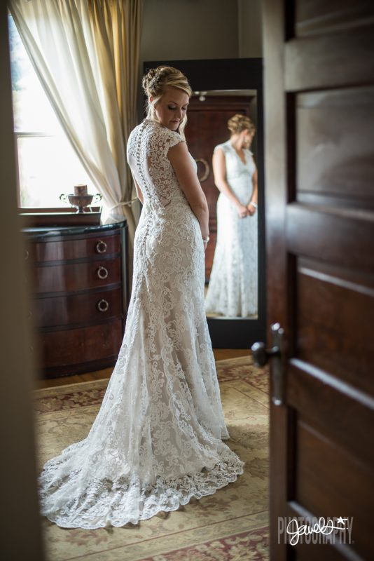rocky mountain bridal portrait lace wedding dress