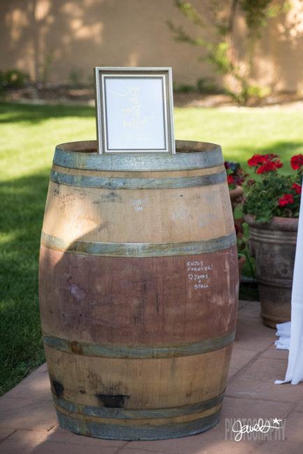 wedding decor denver wine guest book