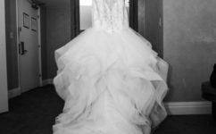 Kerrie dons winter wedding in downtown denver at the brown palace little white dress denver junglespirit Gallery