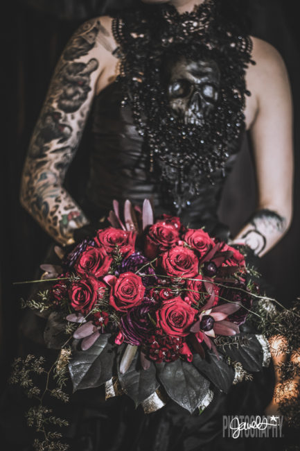 stems florist hysteria machine black wedding details