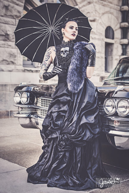 black wedding dress gothic bride