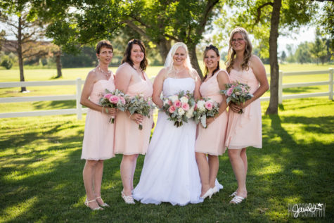 denver bridesmaids pink dresses