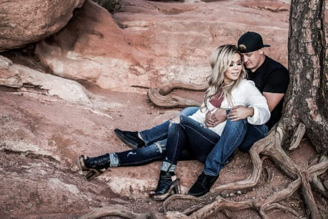 red rocks garden of the gods engagement colorado