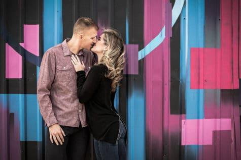 denver engagement session in rino denver colorado