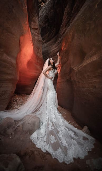 dramatic denver wedding photography red rocks slot canyon utah